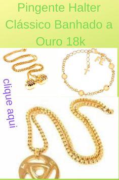 662b581232aa6 Pingente de Halter em Aço Inoxidável ou Aço Inoxidável Banhado a Ouro 18k A  cor do