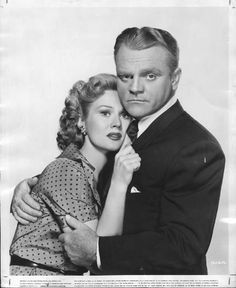 """""""Made it, Ma! Top of the World"""" Raoul Walsh's acclaimed film noir, """"White Heat,"""" starring James Cagney as psychotic gangster Cody Jarrett, opened on this date in 1949. Photo of Cagney and Virginia Mayo courtesy of Warner Bros..Posted Sept. 2, 2014"""
