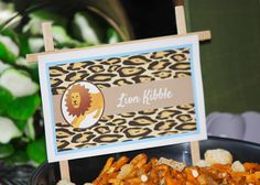 Zoo Party Food Ideas: Snack Mix + Dog Bowl = Lion Kibble