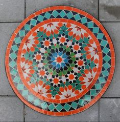Maila, Orange, Marrakech, Beach Mat, Outdoor Blanket, Rugs, Floral, Home Decor, Mosaic