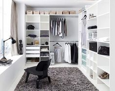 Walk in wardrobe inspiration dressing room in 2019 wardrobe room, closet be Wardrobe Room, Closet Bedroom, Home Bedroom, Ikea Walk In Wardrobe, Master Closet, Closet Space, Closet Office, Master Bedroom, Man Closet