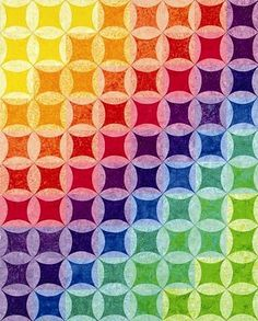 This clever quilt pattern is not cathedral windows - it is an easy square-within-a-circle