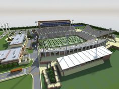 Apogee Stadium with Touchdown Rollercoaster minecraft building ideas download saves 5