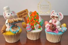 The 3 Bunnies of Easter Cupcakes! -