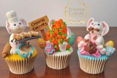 Fun Easter Bunny Cupcakes by Juniper Cakery