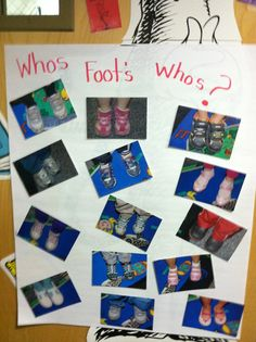 Use with Dr. Suess' The Foot Book