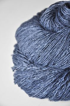 Calm+sea+OOAK+Tussah+Silk+Yarn+Fingering+weight+by+DyeForYarn,+€39,50