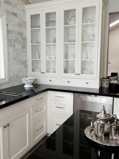 Attractive Suzie: Splendid Kitchen Design With Marble Subway Tile Backsplash And  Gorgeous White Upper .