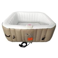 TheraPureSpa 2-Person Oval Portable Inflatable Hot Tub Spa-EST5870 - The Home Depot Backyard Pool Landscaping, Deep Relaxation, Sit Back And Relax, Jacuzzi, Brown, Cover, Hot Tubs, Jet, Price Point