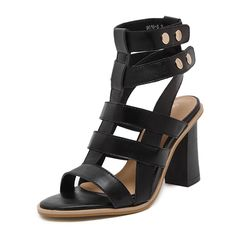 Women's Sandals 2017 Fashion Casual Shoes Genuine Leather Clamps Sandals Ladies Women's Shoes Square feet with shoes