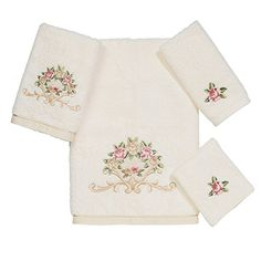 Avanti Premier Royal Rose 4Piece Towel Set Ivory *** Check out the image by visiting the link.