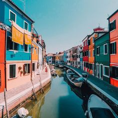 """""""Photo of the Day! @Hadidd snapped this colorful shot of the homes in Venice, Italy. Share your best travel photos by clicking the link in our profile.…"""""""
