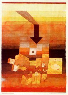 Lugar afectado. 1922. Obra de Paul Klee