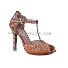 sandalo semiaperto in raso bronzo decorato con strass aurora boreale,  suola in bufalo, tacco 100  #stepbystep #ballo #salsa #tango #kizomba #bachata #scarpedaballo #danceshoes #cute #design #fashion #shopping #shoppingonline #glamour #glam #picoftheday #shoe #style #instagood #instashoes #sandals #sandali #strass #rhinestone #instaheels #stepbystepshoes #cute #salsaon2 #bronzo