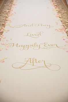 Happily ever after aisle runner | Photo: Vitalic Photo