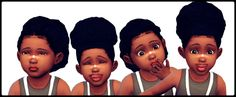 Puff Series for Toddlers | Hair | by shespeakssimlish via tumblr | Sims 4 | TS4 I Maxis Match | MM | CC In real life I would go crazy over that child she is sooo freakn' cute *_*