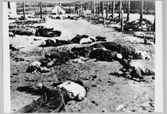The bodies of prisoners who were killed immediately upon their arrival to the Jasenovac concentration camp in Croatia.