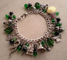 Slytherin House Charm Bracelet...to please my inner geek...