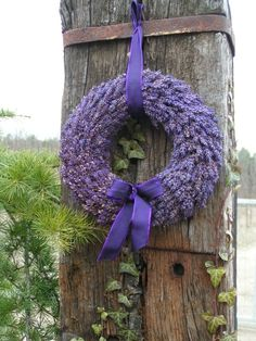 .....a beautiful lavender wreath......