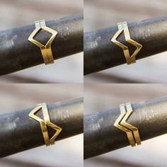 """""""Sabia que a gente pode fazer todos os anéis em ouro também? Olha o anel losango como fica lindo em ouro amarelo! ❤️"""""""