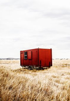 Cool red tiny house!