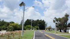 Commercial Street Light LED Fixtures Powered By Clean Solar
