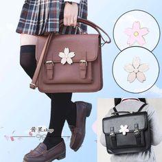 Japanese Jk Uniform Lolita Sakura Shoulder Bag School Messenger Bag Backpack
