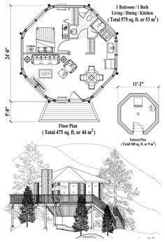 Pedestal Collection PD-0121 (575 sq. ft.) 1 Bedrooms, 1 Baths