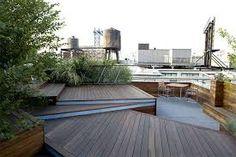 Unfolding Rooftop Terrace in Brooklyn, NY (Terrain-NYC Inc. Diy Pergola, Retractable Pergola, Pergola Shade, Pergola Kits, Pergola Ideas, Wedding Pergola, Patio Ideas, Rooftop Terrace Design, Rooftop Patio