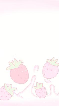 Cute kawaii anime wallpaper ♥ ichigo milk fresas frutillas etc Cute Anime Wallpaper, Soft Wallpaper, Phone Wallpaper Pastel, Kawaii Chibi, Kawaii Anime Girl, Anime Chibi, Anime Art, Pastel Goth Art, Pink Art