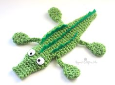 See You Later Crochet Alligator - Repeat Crafter Me. ❉CQ #crochet #applique