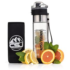 CSJs Forever Fusion Water Bottle  The Best Sport Infuser On The Market  Infuses Flavor With Fruit Herbs and Vegetables FREE BONUS Insulated Cover and Recipes NEW Bottom Removable Filter * Check out this great product-affiliate link.