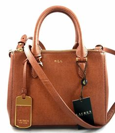 RALPH LAUREN LEATHER MINI NEWBURY BROWN SATCHEL CROSSBODY BAG eBay.com