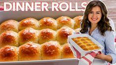 Vanilla Buttercream Frosting Recipe (VIDEO) - NatashasKitchen.com Fluffy Dinner Rolls, Homemade Dinner Rolls, Dinner Rolls Recipe, Kitchen Recipes, Sauce Recipes, Bread Recipes, Cookie Recipes, Yummy Recipes, Muffins