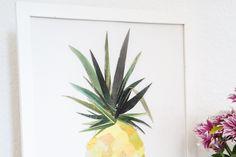 DIY tutorial: Ananas papiercollage via DaWanda.com