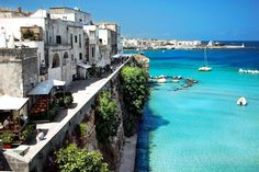 Otranto, Italy ~ Coastal waters so similar to Greece's ~ Want to travel to both for a bit of time ~