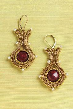 scheme of weaving beads earrings