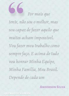 Frase de Anderson Silva