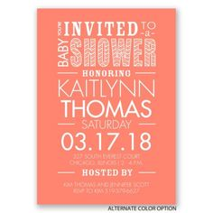 You're Invited - Baby Shower Invitation