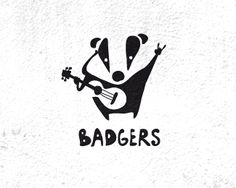 Badgers (for sale) designed by Larisa Iskritskaya. Badger Illustration, Cute Animal Illustration, Typography Logo, Logos, Badger Images, Logo Animal, Hand Drawn Logo, Black And White Theme, Letter Logo