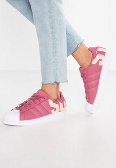 SUPERSTAR - Sneakersy niskie - trace maroon/clear orange