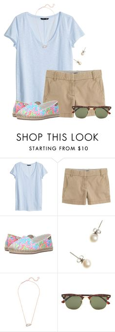 """""""Love these Lilly loafers:)"""" by flroasburn on Polyvore featuring H&M, J.Crew, Lilly Pulitzer, Kendra Scott and Ray-Ban"""