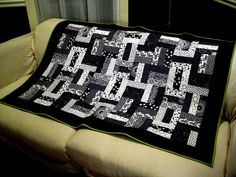 Black and White Quilt by Cookingardener