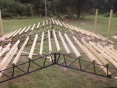 Photos/Pictures of Steel Truss Pole Barns. Horse Barns Hay Barns Horse Arenas Run-Unders Carports Batting Cages Pavilions Sheds Equipment Storage Enclosures Agriculture Farming Shipping Container House Plans, Shipping Containers, Diy Projects Garage, Horse Arena, Goat Barn, Steel Trusses, Home Fix, Industrial Living, Garage Shop