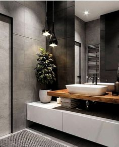 Fernanda Oliveira fernandaoliveirainteriores Fotos und Videos – Home Decor On a Budget Bathroom Modern Bathroom Decor, Bathroom Interior Design, Bathroom Ideas, Bathroom Designs, Bathroom Storage, Bathroom Goals, Bath Ideas, Bathroom Organization, Bad Inspiration