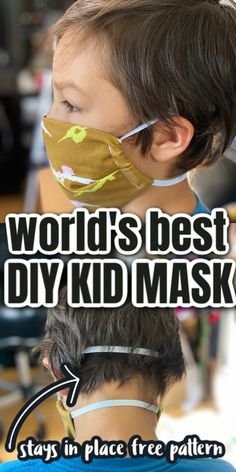 Sewing Patterns For Kids, Sewing For Kids, Diy For Kids, Cool Kids, Free Sewing, Sewing Ideas, Best Masks, Best Face Mask, Face Face