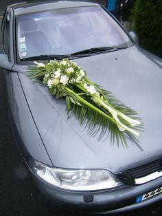 Création florale : #Mariage #Voiture #Fleuriste