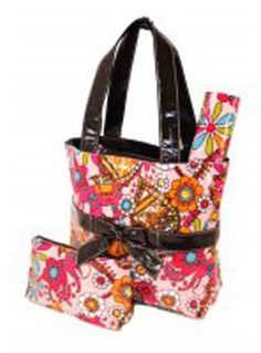 Floral Print Diaper Bag thehaircandystore.com