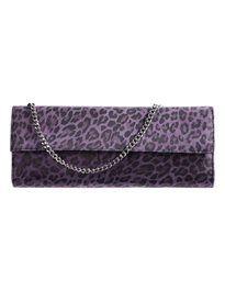Designer Clothes, Shoes & Bags for Women Purple Handbags, Purple Purse, Leopard Clutch, Leather Handbags, Shoulder Bag, Purses, Shoe Bag, Clutches, Polyvore