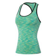 Size S-XXL Women Color Block Racerback Fitness Sports Yoga T-shirts Running Tank Tops Camisole Gym Wear Vest Sportswear 2016 New